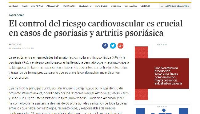Aparición del Dr. López Estebaranz en el Diario de Sevilla